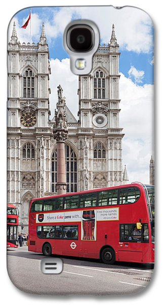 Double-decker Buses Passing Galaxy S4 Case by Panoramic Images