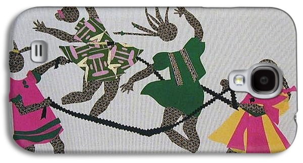 African-americans Tapestries - Textiles Galaxy S4 Cases - Double Dutch Galaxy S4 Case by Ruth Yvonne Ash