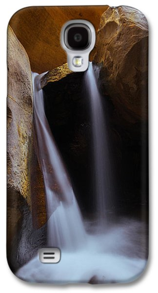 Southern Utah Galaxy S4 Cases - Double Falls Galaxy S4 Case by Dustin  LeFevre