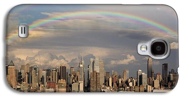 Susan Candelario Galaxy S4 Cases - Double Rainbow Over NYC Galaxy S4 Case by Susan Candelario