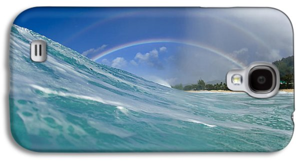 Ocean Art Photography Galaxy S4 Cases - Double Rainbow Galaxy S4 Case by Sean Davey