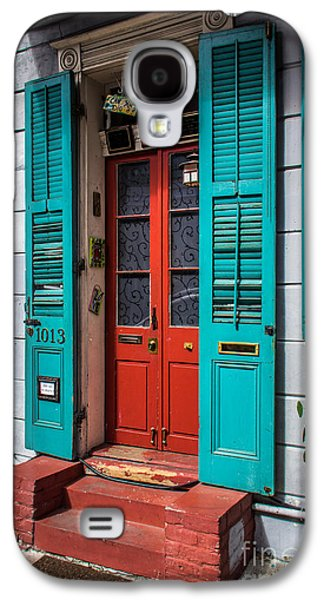 Historical Pictures Galaxy S4 Cases - Double Red Door Galaxy S4 Case by Perry Webster