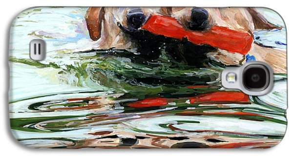 Dog Retrieving Galaxy S4 Cases - Doublemint Galaxy S4 Case by Molly Poole