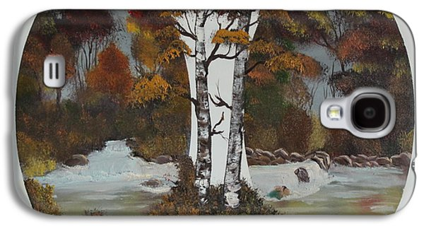 Bob Ross Paintings Galaxy S4 Cases - Doubling The Autumn Splendor Galaxy S4 Case by Bob Williams