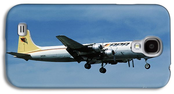 Fixed Wing Multi Engine Photographs Galaxy S4 Cases - Douglas DC-6BF  landing  N95BL APA Galaxy S4 Case by Wernher Krutein