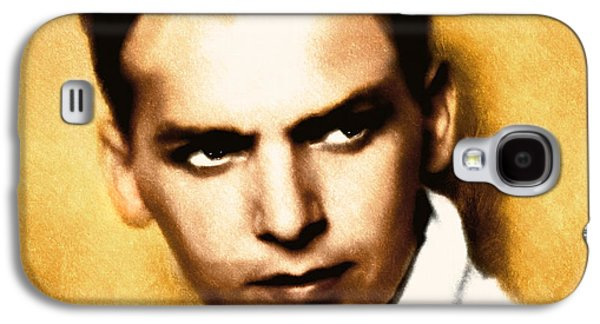 Character Portraits Mixed Media Galaxy S4 Cases - Douglas Fairbanks Jr Galaxy S4 Case by Georgiana Romanovna