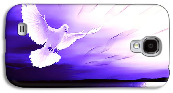 Beach Landscape Galaxy S4 Cases - Dove of my Dreams Galaxy S4 Case by Eddie Eastwood