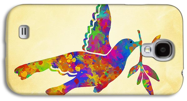 Dove With Olive Branch Galaxy S4 Case by Christina Rollo