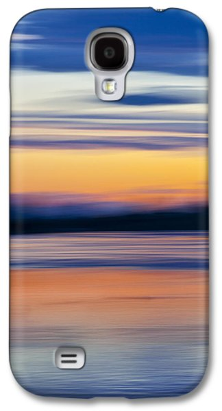 Sunset Abstract Galaxy S4 Cases - Down By The River Galaxy S4 Case by Theresa Tahara