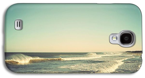 Down The Shore Seaside Heights Vintage Quote Galaxy S4 Case by Terry DeLuco