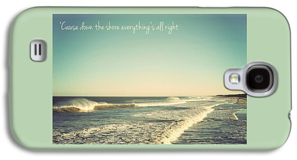 Seaside Heights Photographs Galaxy S4 Cases - Down the Shore Seaside Heights Vintage Quote Galaxy S4 Case by Terry DeLuco
