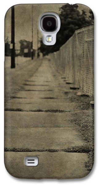Weed Line Galaxy S4 Cases - Down The Sidewalk Galaxy S4 Case by Dan Sproul