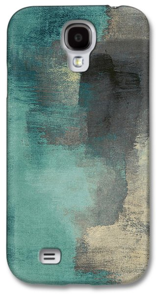 Downtown Blue Rain I Galaxy S4 Case by Lanie Loreth