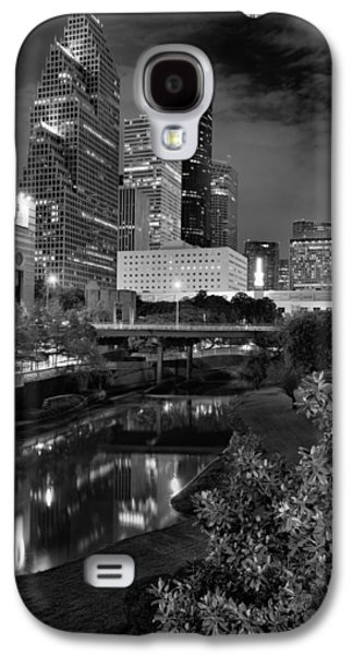 Downtown Franklin Galaxy S4 Cases - Downtown Houston at Night. Galaxy S4 Case by Silvio Ligutti
