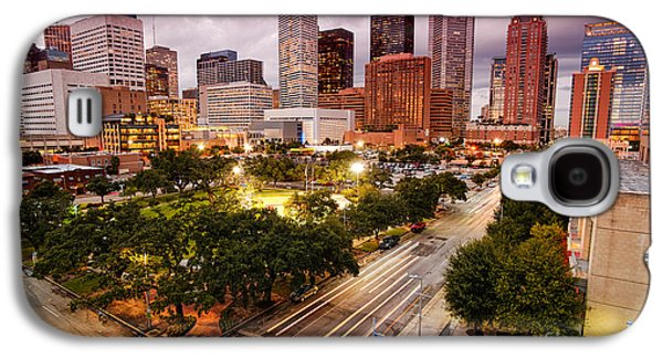 Urban Images Galaxy S4 Cases - Downtown Houston Skyline during Twilight Galaxy S4 Case by Silvio Ligutti