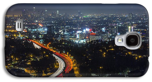 Cities Pyrography Galaxy S4 Cases - Downtown Los Angeles Galaxy S4 Case by Lavold Photography