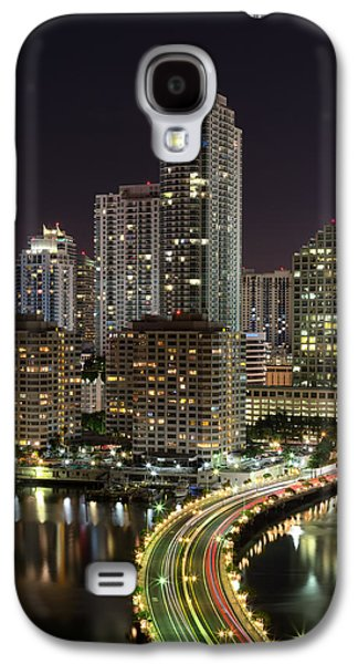 Tourism Galaxy S4 Cases - Downtown Miami from Brickell Key Galaxy S4 Case by Andres Leon