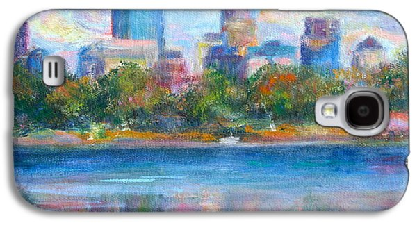 Pride Paintings Galaxy S4 Cases - Downtown Minneapolis Skyline from Lake Calhoun Galaxy S4 Case by Quin Sweetman