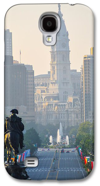 Downtown Franklin Galaxy S4 Cases - Downtown Philadelphia - Benjamin Franklin Parkway Galaxy S4 Case by Bill Cannon