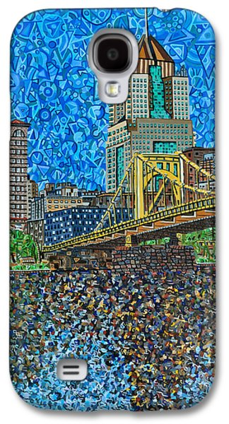 Roberto Clemente Galaxy S4 Cases - Downtown Pittsburgh - Roberto Clemente Bridge Galaxy S4 Case by Micah Mullen