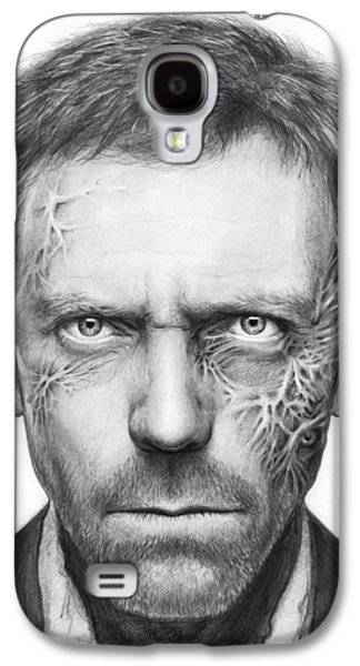Graphite Galaxy S4 Cases - Dr. Gregory House - House MD Galaxy S4 Case by Olga Shvartsur