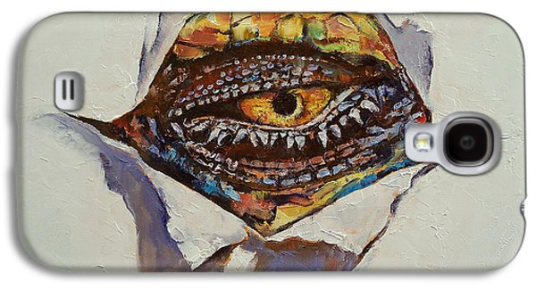 Surrealistic Paintings Galaxy S4 Cases - Dragon Eye Galaxy S4 Case by Michael Creese