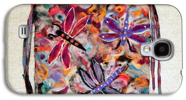 Flies Tapestries - Textiles Galaxy S4 Cases - Dragon Flies Galaxy S4 Case by Selma Glunn
