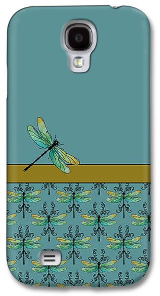 Flies Mixed Media Galaxy S4 Cases - Dragon Fly Nouveau Galaxy S4 Case by Jenny Armitage