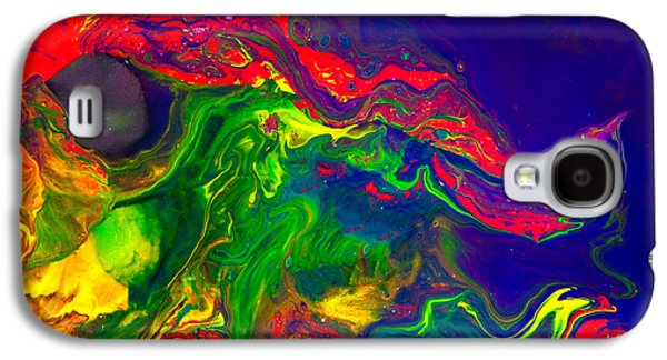 Modern Abstract Galaxy S4 Cases - Dragon Galaxy S4 Case by Modern Art Prints