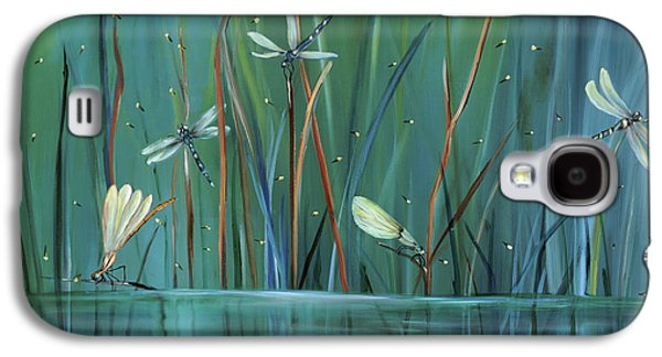 Water Paintings Galaxy S4 Cases - Dragonfly Diner Galaxy S4 Case by Carol Sweetwood