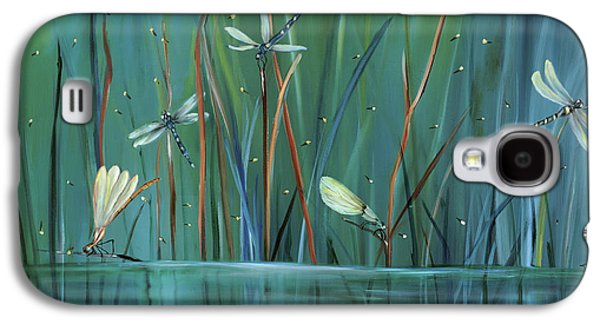 Best Sellers -  - Green Galaxy S4 Cases - Dragonfly Diner Galaxy S4 Case by Carol Sweetwood