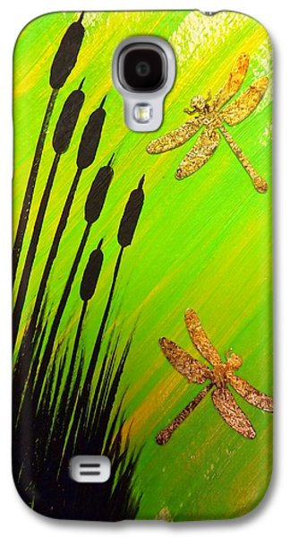 Darren Mixed Media Galaxy S4 Cases - Dragonfly Dreams Galaxy S4 Case by Darren Robinson