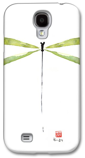 Dragonfly Green Jewel Forest Jewelry Lake Water Watercolor Painting    Galaxy S4 Case by Johana Szmerdt