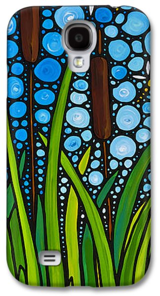 Lilly Pad Galaxy S4 Cases - Dragonfly Pond by Sharon Cummings Galaxy S4 Case by Sharon Cummings