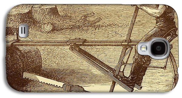Dragsaw Sawing Machine Galaxy S4 Case by David Parker