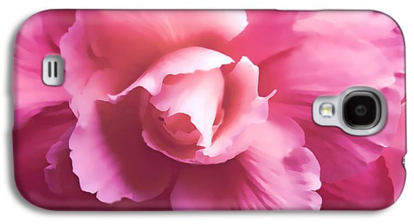 Fushia Galaxy S4 Cases - Dramatic Pink Begonia Floral Galaxy S4 Case by Jennie Marie Schell