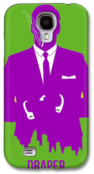 Drama Galaxy S4 Cases - Draper Poster 1 Galaxy S4 Case by Naxart Studio