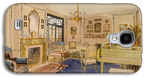 Chair Drawings Galaxy S4 Cases - Drawing Room Adam Revival Style Galaxy S4 Case by Richard Goulburn Lovell