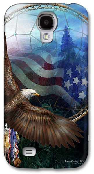 American Flag Mixed Media Galaxy S4 Cases - Dream Catcher - Freedoms Flight Galaxy S4 Case by Carol Cavalaris