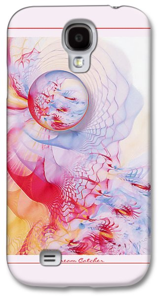 Abstract Digital Pastels Galaxy S4 Cases - Dream Catcher Galaxy S4 Case by Gayle Odsather