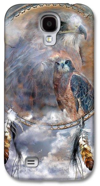 Dream Catcher - Hawk Spirit Galaxy S4 Case by Carol Cavalaris