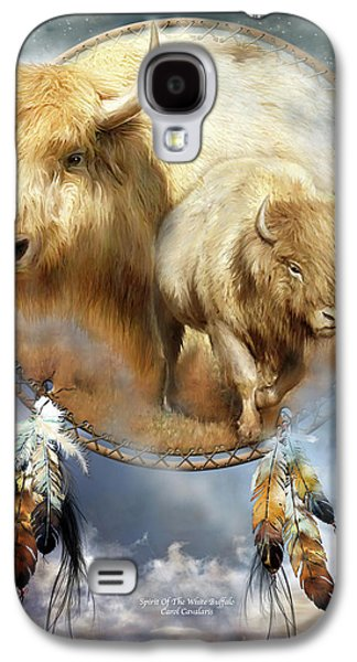 American Bison Galaxy S4 Cases - Dream Catcher - Spirit Of The White Buffalo Galaxy S4 Case by Carol Cavalaris