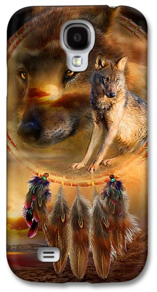 Americans Galaxy S4 Cases - Dream Catcher - WolfLand Galaxy S4 Case by Carol Cavalaris