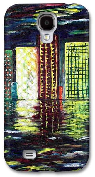 Color Paintings Galaxy S4 Cases - Dream City Galaxy S4 Case by Anastasiya Malakhova