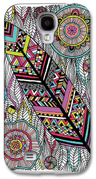 Floral Digital Digital Galaxy S4 Cases - Dream Feather Galaxy S4 Case by Susan Claire