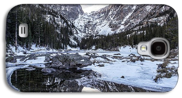 Reflection Of Sun In Clouds Galaxy S4 Cases - Dream Lake Reflection Galaxy S4 Case by Aaron Spong