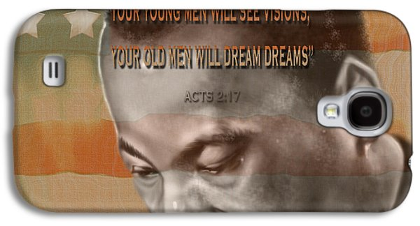 Recently Sold -  - African-american Galaxy S4 Cases - DREAM OR PROPHECY - Dr Rev Martin  Luther King Jr Galaxy S4 Case by Reggie Duffie