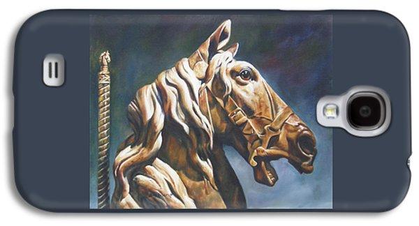 Carousel Horse Paintings Galaxy S4 Cases - Dream Racer Galaxy S4 Case by Lori Brackett