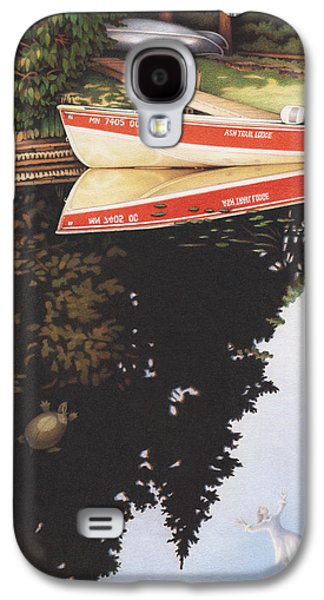 Canoe Drawings Galaxy S4 Cases - Dream Vacation Galaxy S4 Case by Amy S Turner