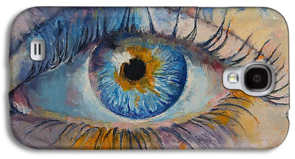 Surrealistic Paintings Galaxy S4 Cases - Eye Galaxy S4 Case by Michael Creese